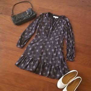 Ann Taylor LOFT Long Sleeved Ruffle Dress